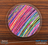 The Neon Colored Brush Strokes Skinned Foam-Backed Coaster Set