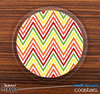 The Sharp Bright Fall Colors Chevron Skinned Foam-Backed Coaster Set
