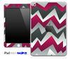 Purple Abstract Chevron Pattern Skin for the iPad Mini or Other iPad Versions