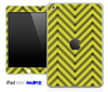 Gold/Black Sharp Chevron Pattern V2 Skin for the iPad Mini or Other iPad Versions