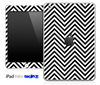 Black/White Sharp Chevron Pattern Skin for the iPad Mini or Other iPad Versions