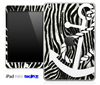 Real Zebra and White Anchor Skin for the iPad Mini or Other iPad Versions