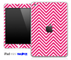 Pink/White Sharp Chevron Pattern Skin for the iPad Mini or Other iPad Versions
