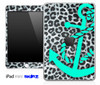 Real Leopard and Trendy Green Anchor Skin for the iPad Mini or Other iPad Versions