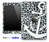 Real Leopard and White Anchor Skin for the iPad Mini or Other iPad Versions