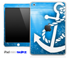 Under The Sea with White Anchor Skin for the iPad Mini or Other iPad Versions