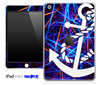 Neon Strobe Lights and White Anchor Skin for the iPad Mini or Other iPad Versions