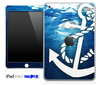 Under Water and White Anchor Skin for the iPad Mini or Other iPad Versions