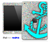 Colorful Dotted and Turquoise Anchor Skin for the iPad Mini or Other iPad Versions