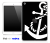 Solid Black and White Anchor Skin for the iPad Mini or Other iPad Versions