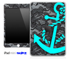 Black Laced and Turquoise Anchor Skin for the iPad Mini or Other iPad Versions