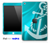 Turquoise Sheets and Subtle White Anchor Skin for the iPad Mini or Other iPad Versions