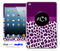 Animal Print Custom Monogram iPad Skin