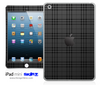 Black Plaid iPad Skin