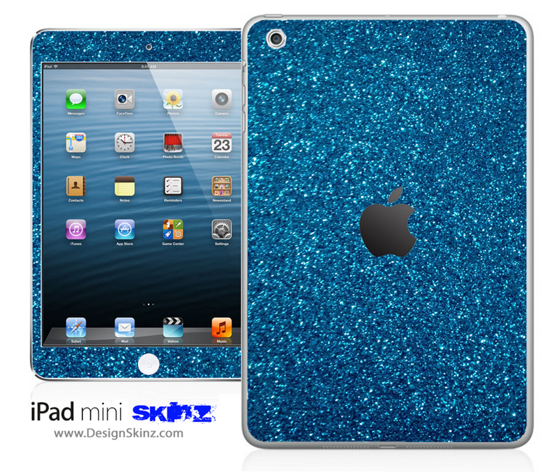 Blue Ultra Metallic Glitter iPad Skin
