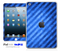 Blue Slanted Striped iPad Skin
