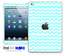 Blue Chevron Pattern iPad Skin