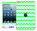 Green Chevron iPad Skin