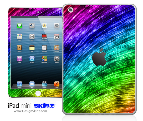 Tie-Dyed Bright Brush Strokes iPad Skin