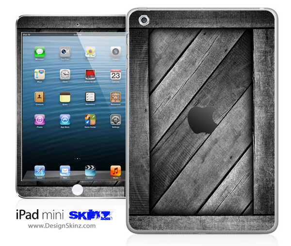Dark Washed Planks iPad Skin