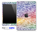 Colorful Zebra iPad Skin