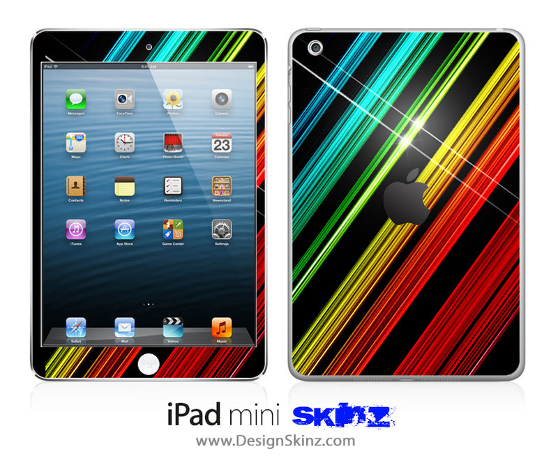 Slanted Flashy Stripes iPad Skin