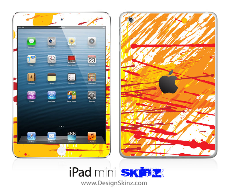 Orange Paint Drips iPad Skin