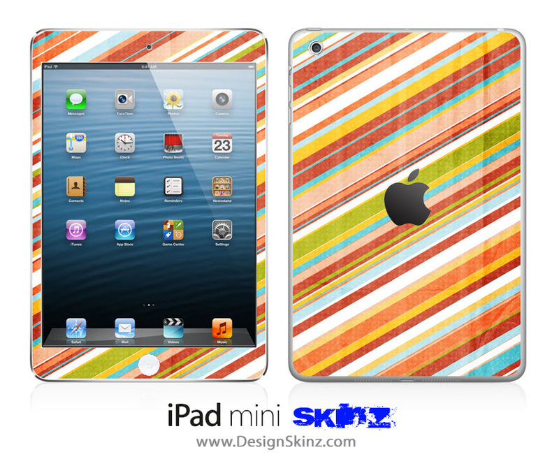 Slanted Vintage Stripes iPad Skin
