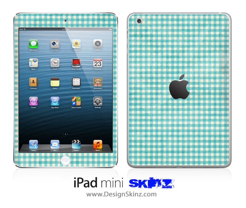 Vintage Green Plaid iPad Skin