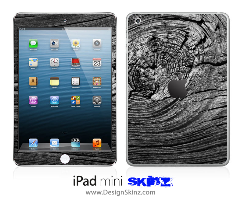 Black Wood Curl iPad Skin