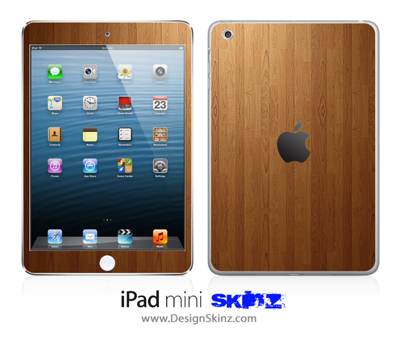 Straight Wood iPad Skin