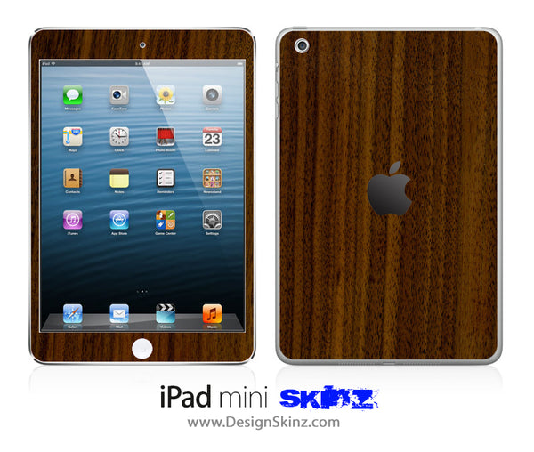 Walnut Wood iPad Skin