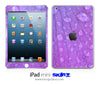 Purple Wet Leaf iPad Skin