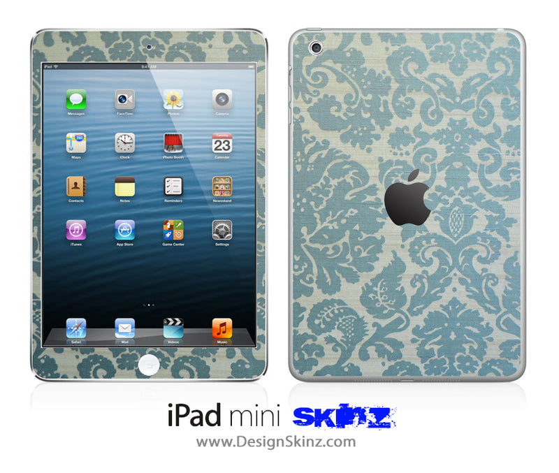 Green Lace Pattern iPad Skin