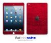 Red Leather iPad Skin