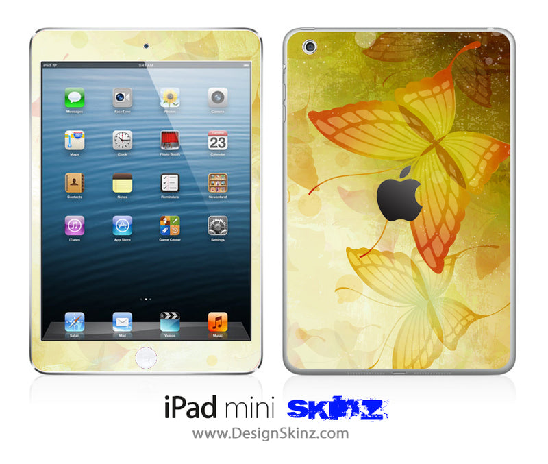 Butterfly illustration iPad Skin