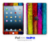 Vertical Color-Wood iPad Skin