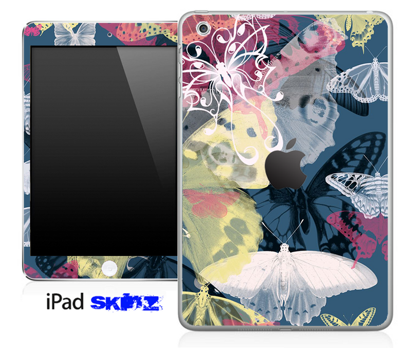 Abstract Color Butterfly Skin for the iPad Mini or Other iPad Versions