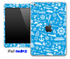 Blue Nautical Collage Skin for the iPad Mini or Other iPad Versions