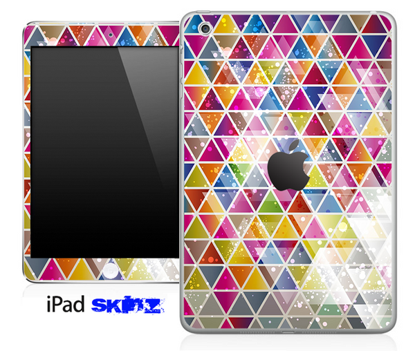 Abstract Color Tiled V4 Skin for the iPad Mini or Other iPad Versions