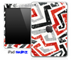 Abstract Red White and Black Skin for the iPad Mini or Other iPad Versions