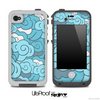 Abstract Blue Seamless Pattern Skin for the iPhone 5 or 4/4s LifeProof Case