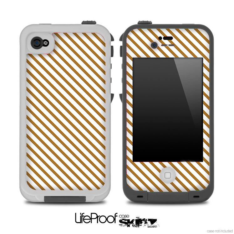 Slanted Stripe Gold Pattern for the iPhone 5 or 4/4s LifeProof Case