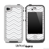 Thin Gray Lines Chevron Pattern Skin for the iPhone 5 or 4/4s LifeProof Case