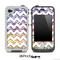Colorful Zebra Print and White Chevron Pattern for the iPhone 5 or 4/4s LifeProof Case