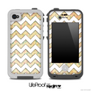 Vintage Polka Tiny and White Chevron Pattern for the iPhone 5 or 4/4s LifeProof Case