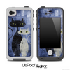 Abstract Blue Cat Painting Skin for the iPhone 5 or 4/4s LifeProof Case