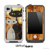 Abstract Orange Cat Painting V2 Skin for the iPhone 5 or 4/4s LifeProof Case