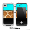 Three-Toned Turquoise Real Giraffe V3 Skin for the iPhone 5 or 4/4s LifeProof Case