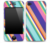 Fun Colored Striped Skin for the iPhone 3gs, 4/4s or 5